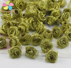 1.5Cm Mixed Gold And Silver Rosette Satin Flower Girls Boutique Mini Bow Headwea