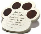 Beloved Dog Sadly Missed Memorial Tribute Ornament Plaques Paws & Photo Frames