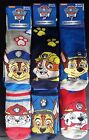 2 Pairs Girls Boys Kids Official Paw Patrol Chase Rubble Marshall Socks Size