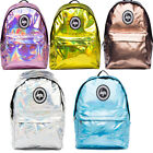HYPE HOLOGRAPHIC BACKPACK RUCKSACK SCHOOL BAG VARIOUS NEW COLOURS