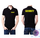 SECURITY POLO DOORMAN BODYGUARD FLUORESCENT SIZES S-3XL PRINTED FRONT/REAR