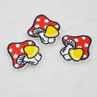 Small mushroom mush embroidered iron on patch sewn For clothing applique  badges