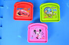 Character Plastic Sandwich Containers: Cars, Minnie Mouse, Monster U.