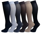6 Pairs Pack Women Stretchy Spandex Trouser Socks Opaque Knee High Size 9-11