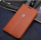 Magnetic Genuine Leather Flip Wallet Case Stand Cover For Samsung Galaxy Note 4