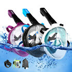 Anti-Fog Full Face Swimming Diving Scuba Snorkel Mask Surface For GoPro S/L/M/XL