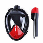 Full Face Snorkeling Masks Scuba Diving Swimming Swim Breather Pipe For Gopro
