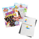 Unicorn Colouring Book Kids Drawing Scratch Art Rainbow Stencil Tool Play Paper