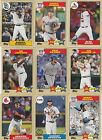 2017 TOPPS SERIES  2 1987 TOPPS 30th ANNIVERSARY U-PICK COMPLETE YOUR SET