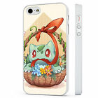Cute Bulbasaur Basket Flowers Pokemo WHITE PHONE CASE COVER fits iPHONE 4 5 6 7