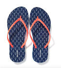 NAVY ANCHOR Women OLD NAVY FLIP FLOPS Size 7,8,9 NEW W/ TAG