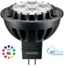 PHILIPS MASTER LED MR16 LAMP, NEW CRI90 7W (=35W), AIRFLUX, 12V, WHITE, DIMMABLE