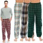 "TINFL Plaid Check Soft Flannel Lounge Mens Long Pajama Pants ""PM 1-27style"" S-XL"