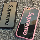 Pink/Black Fashion Supreme Couples Case Mirror Phone Case For iphone 6 6S