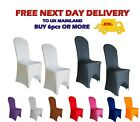 SPANDEX Wedding CHAIR COVERS Arched Front 12 Colours Anniversary Party Decor UK