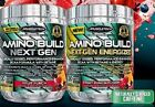 MUSCLETECH AMINO BUILD NEXT GEN or ENERGIZED 30 SERV / BCAA / BOOST STRENGTH-NEW