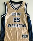 GEORGE WASHINGTON COLONIALS MEN'S BASKETBALL JERSEY NCAA #25 NEW! LARGE