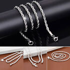 2017 Hot Silver 2MM Fashion Jewelry Women Lady Royal Necklace Chain