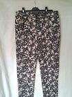 Adini Cotton Satin  Lycra mix printed trousers zip fly