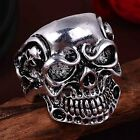 NEW Silver Skull Ring Band Wrap Rings Men Fashion Jewelry Biker Gothic Punk Gift