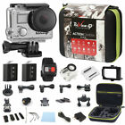 4K Sports Action camera Ultra HD DV 16MP 1080p 60fps + Remote + Accessory Bundle