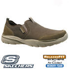 MENS SKECHERS RELAXED FIT AIR COOL MEMORY FOAM SLIP ON WALKING TRAINERS SHOES