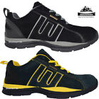 LADIES GROUNDWORK SAFETY TRAINERS STEEL TOE CAP LEATHER WORK SHOES LACE UP 3-8