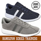 Mens Striped Urban Jacks Super Suede Lace Up Sports Running Gym Trainers Shoes