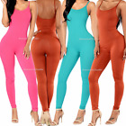 Women Athletic Stretch Pants Leggings Sports Yoga Workout Gym Fitness Top Tank