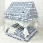 New Handmade Curtain Cotton Pet Dog Cat Bed House Sofa Frame Bed Blanket S,M,L
