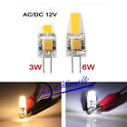 Dimmable G4 LED 12V AC/DC COB Light 3W 6W High Quality LED G4 COB Lamp Bulb NEW