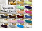 Plain Dyed Fitted Sheets Single, 4FT, Double, King, Super King OR Pillow Cases