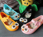 Kids Jelly Shoes Soft Magic Fastening Cartoon Owl Eyes For Girl Boy Sandals
