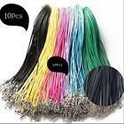 Wholesale 14 color Bulk Lot 10 pcs PU Leather String 20inch Necklace Cord Jewelr