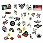 7 Pieces Iron On Embroidered Applique Patches Sew on Patch for Clothing PT170429