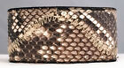"Genuine Black & White Python Snake Skin Arm Wrist Band Cuff Bracelet 1 3/8"" wide"