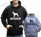 BOXER DOG HOODIE, HOODY choose from black or grey adult S M L XL XXL