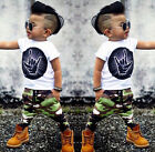 Toddler Infant Baby Kid Boys Clothes Casual Tops T-shirt Pants 2Pcs Set Outfits