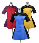 Women's Star Trek TNG Skant Uniform Blue Yellow Red Dress Skirt Cosplay Costume on eBay
