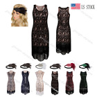 Retro Sequins 1920s Flapper Gatsby Party Evening Dress Roaring 20s Prom Costume