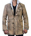 Bane Tom Hardy The Dark Knight Rises Faux Shearling Brown Leather Coat Jacket