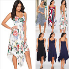 Womens Summer Floral Sleeveless Dress Party Holiday Beach Long Dress Sundress