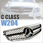 Sport Front Mesh Grille For Mercedes Benz C Class W204 2008-2014 AMG *5 VERSION
