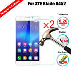 2Pcs Real Tempered Glass Screen Protector Guard Film For ZTE A452 A462 A310 V8