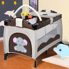 Travel Cot Infant Baby Bed Play Pen Child Bassinet Playpen Entryway Mat 2 in 1