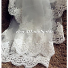 Wedding Accessories Lace 3M Cathedral White / Ivory Bride Veil Mantilla Veil
