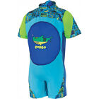Zoggs Deep Sea Swimfree Infant Kids Boys Swimming Swimsuit Floatsuit Blue