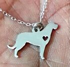 Irish wolfhound - Sterling Silver Jewelry - Gold - Rose Gold - Engrave - Gift