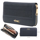Aitbags Vegan Leather Wallet for Women Hollow Out Clutch Long Purse Zip Around