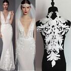 Back Embroidered Lace Applique Ivory Bodice Lace Trim Sew on Wedding Dress Motif